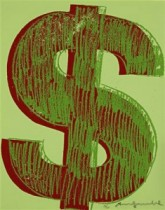 Dollar Sign 2 by Andy Warhol.
