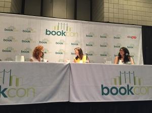 Gayle Forman, left, Sarah Dessen, and Jenny Han