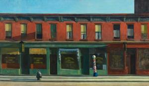 """Edward Hopper, """"Early Sunday Morning,"""" 1930. Image courtesy of the Whitney Museum of American Art"""