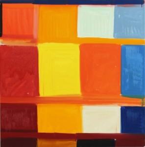 "Stanley Whitney, ""Dance the Orange,"" 2013. Image Courtesy of the Studio Museum in Harlem."