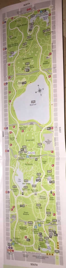This is a free map that you can pick up from the guides at Belvedere Castle in the park.